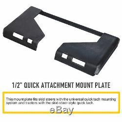1/2 HD Quick Tach Attachment Mount Plate Skid steer Adapter Bobcat Skid Steer