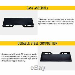 1/2 Thick Skid Steer Quick Tach Mount Plate Adapter Attachment Heavy-Duty