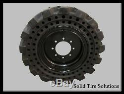 10x16.5 / 30x10-16 Flat Free Solid Skid Steer Tires Set of 4