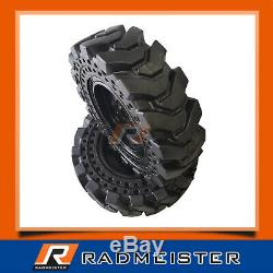 10x16.5 / 30x10-16 Solid Skid Steer Tires 4x with Rims