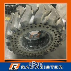 12x16.5 / 33x12-16 Set of 4 Solid Skid Steer Tires withRims