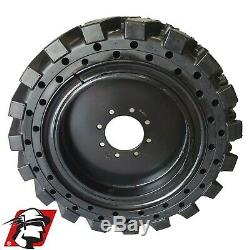 12x16.5 Maxmizer GT Tire Solid Skid Steer Tire 4xTire/Wheels NEW HOLLAND 12-16.5