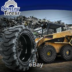 12x16.5 Sentry Tire Skid Steer Solid Tires 2 with Wheels for NEW HOLLAND 12-16.5