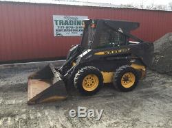 2007 New Holland L170 Skid Steer Loader with Cab & Weight Kit