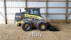 2009 New Holland L190 Heat Air Skid Steer Wheel Loader Tire Machine L190