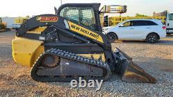 2012 New Holland C238 84hp High Flow Cab A/C Track Skid Steer Loader