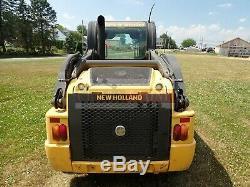 2014 New Holland L220 Skid Steer, Erops, Heat/ac, 2 Spd, Aux Hydraulics, 465 Hrs