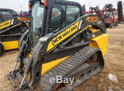 2015 New Holland C232 Compact Track Skid Steer Loader with Cab Only 900 Hours