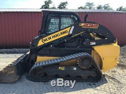 2016 New Holland C232 Compact Track Skid Steer Loader with Cab Only 900Hrs CLEAN