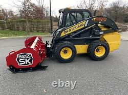 2018 New Holland Skid Steer Loader-8 Boss Snow Pusher -139 Hour-2 Speed-Aux Hyd