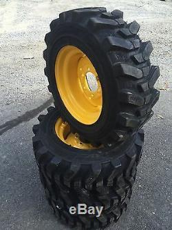 4-10-16.5 HD Skid Steer Tires-Camso SKS532-10X16.5 New Holland 6 lug LX465, LX485