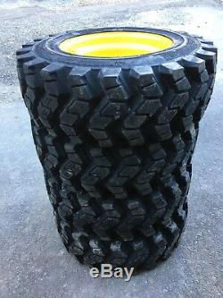 4 Camso SKS753 10-16.5 Skid Steer Tires/wheels/rims for New Holland 10X16.5