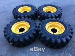 4 HD Camso SKS753 12-16.5 Skid Steer Tires/Wheels/Rim for New Holland 12X16.5