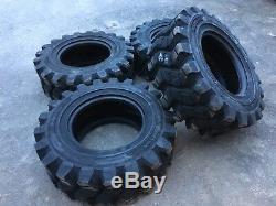 4 HD Camso SKS753 12-16.5 Skid Steer Tires for John Deere, New Holland 12X16.5