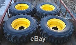 4 NEW 14-17.5 Skid Steer Tires & Rims for New Holland 14 ply rating 14X17.5