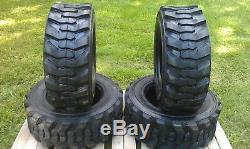 4 NEW Loadmax 12-16.5 Skid Steer Tires 12 Ply For CAT, New Holland & others
