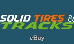 4 No Flats 10-16.5/30x10-16/10x16.5 Solid Skid Steer Tires + rims Heavy Duty