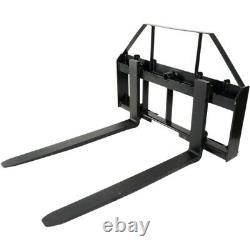48 Pallet Fork Attachment, Landscape Forks, Kubota/Holland Skid Steer, Quick At