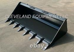 60 LOW PROFILE TOOTH BUCKET for Bobcat Skid Steer Track Loader with Teeth 5