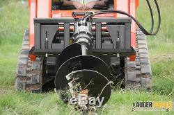 6000-40 Hi Flow Skid Steer Auger Drive w Frame 6,000ft-lbs up to 40GPM