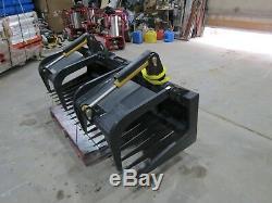 80 inch skid steer silage rock grapple Heavy Duty NEW Case Bobcat Cat Kubota ASV