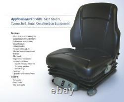 Air Suspension Seat John Deere Skid Steer 315, 317, 320, 325, 328, 332