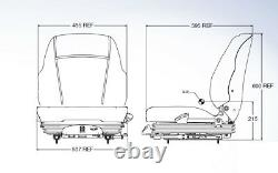 Air Suspension Seat New Holland Skid Steer C175, C185, C190, L120, L125, L150