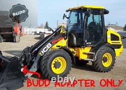 BUDD JCB 407 409 409b Series Compact Wheel Loader ISO to SS skid steer adapter