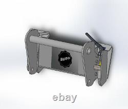 BUDD New Holland NH Gehl telehandler Skid Steer Quick Attach LM435 CT723 CT7-23