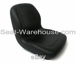 Black HIGH BACK SEAT withSlide Track Kit for Ford New Holland Skid Steer Loader#QG