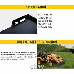 HD 5/16 Quick Tach Attachment Mount Plate for Kubota Bobcat Skid Steer Steel