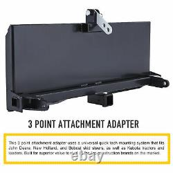 Hitch Front Loader Case Skidsteer 3 Point Attachment Adapter Skid Steer