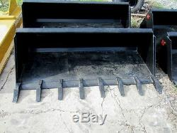 MTL Attachments 72 HD Tooth-Dirt Bucket Quick attach skid steer 3/4 AR-Ship $149