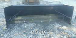 NEW 6' SKID STEER/TRACTOR LOADER SNOW BOX PUSHER PLOW BLADE bobcat, holland 72