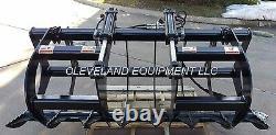 NEW 66 LD ROOT GRAPPLE ATTACHMENT Skid-Steer Loader Bucket Rake Tine Bobcat Cat