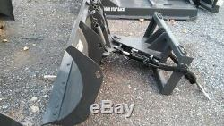 NEW HD 7' 84 SNOWPLOW SKID STEER LOADER, bobcat, case holland Tractors, kubuta