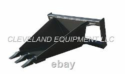 NEW HD STUMP BUCKET ATTACHMENT Skid Steer Loader Utility Tree Spade Scoop Trench