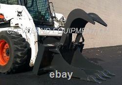 NEW STUMP GRAPPLE BUCKET ATTACHMENT Skid Steer Loader Bobcat Gehl Case Takeuchi