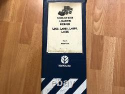 New Holland L865 LX865 LX885 LX985 skid steer factory repair manual set OEM