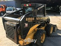New Holland LX 885 Skid Steer Rubber Tire Wheel Loader Tractor Diesel
