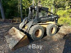 New Holland LX985 skid steer with heat