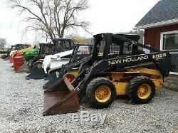 New Holland Lx885 Skid Steer Loader With Bucket