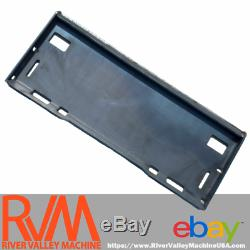 RVM Universal Quick-Attach Mount Plate / Adapter 5/16 SOLID for Skid-Steers