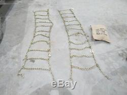 Set of 2 14x17.5 skid steer tire chains 14 x 17.5 tires Mustang Case Gehl NEW