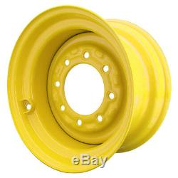 Set of 4 8 Lug New Holland LS160 Skid Steer Wheels, 8.25x16.5, 10x16.5 Tires