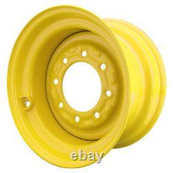 Set of 4 8 Lug New Holland LS180 Skid Steer Wheels 9.75x16.5 12x16.5 Tires