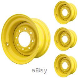 Set of 4 8 Lug New Holland LX865 Skid Steer Wheels 9.75x16.5 12x16.5 Tires