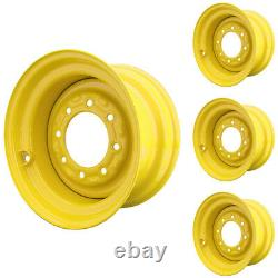 Set of 4 8 Lug New Holland LX885 Skid Steer Wheels 9.75x16.5 12x16.5 Tires