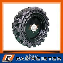 Skid Steer 10x16.5 Solid Tires Set of 4 withWheels for New Holland 10-16.5