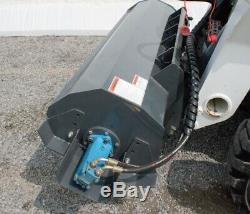 Skid Steer Bobcat Hydraulic Roto Tiller 72 6 Ft Garden Dirt Soil Cultivator New